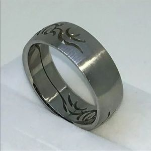Jewelry - New White Gold Plated Stainless Steel ring band